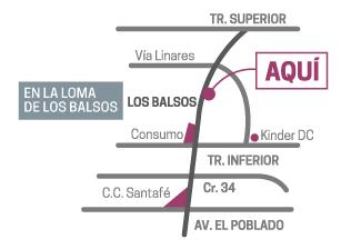 Mapa de Class Suites, proyecto en Medellín de CrearCimientos