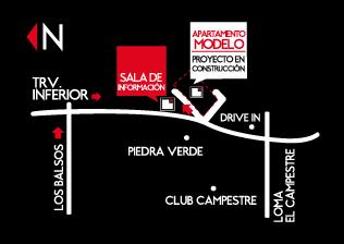 ubicación de apartamentos Mondrian de crear cimientos en medellin