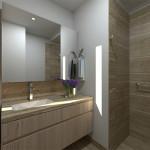Baño de Class Suites, proyecto en Medellín de CrearCimientos