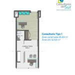Plano Tipo 1 Consultorios del Sur, proyecto de salud en Envigado de Crear Cimientos