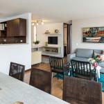 Sala comedor Lyon, proyecto de apartamentos en Envigado de Crear Cimientos