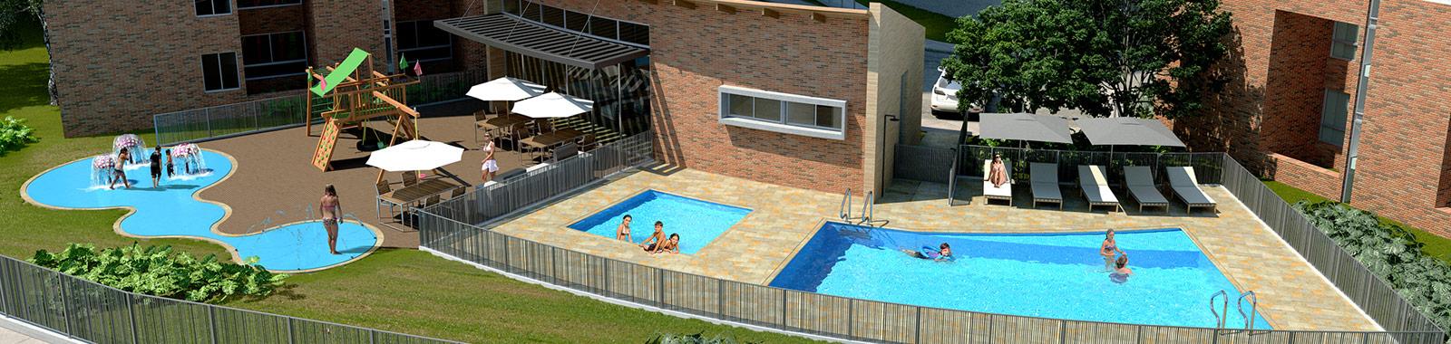 Crear Cimientos tiene apartamentos en sabaneta de Manzana Once con zonas comunes.