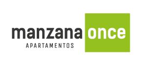 Logo a color de Manzana Once apartamentos en Sabaneta de Crear Cimientos