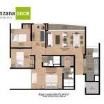 Planos 3 en apartamentos en sabaneta de Manzana Once de Crear Cimientos
