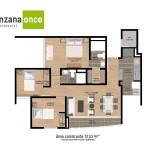 Planos 4 en apartamentos en sabaneta de Manzana Once de Crear Cimientos