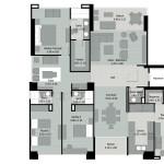 Planos 1 de apartamentos Mondrian en Medellin de Crear Cimientos