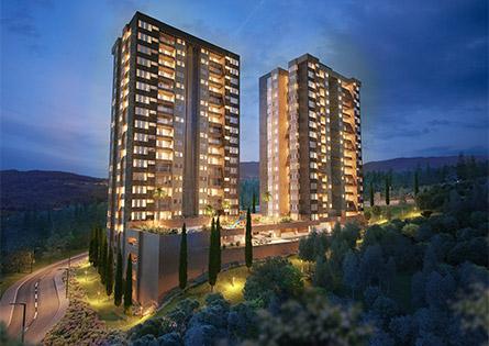 Punta del parque apartamentos en envigado, fachada imagen lista en Crear Cimientos